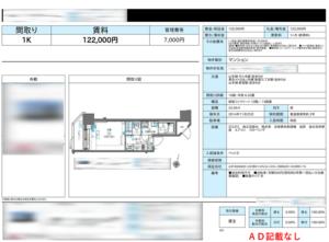 東京新宿の賃貸募集図面1