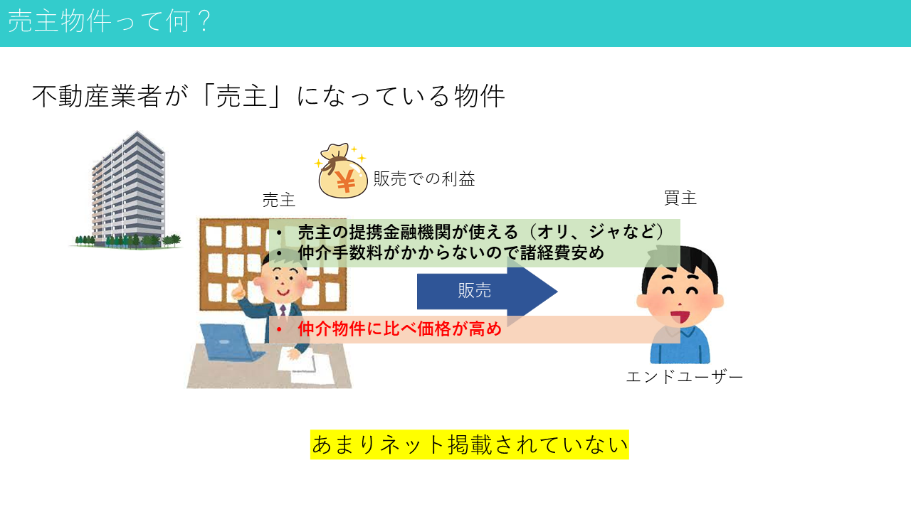 売主物件とは?(イメージ図)