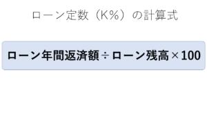 ローン定数(K^A)の計算式